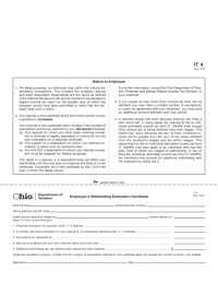 Employee's Withholding Exemption Certificate - Ohio Free ...