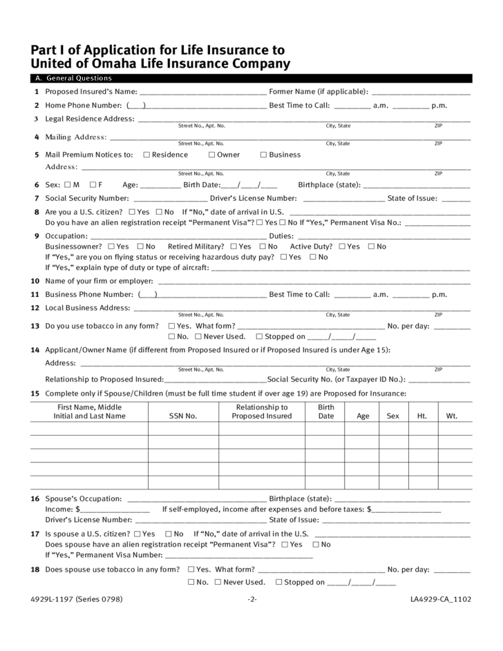 Credit Report Request Form Equifax Life Insurance Application Form Template Free Download