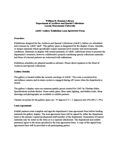 Sample Exhibit Loan Agreement Form Free Download