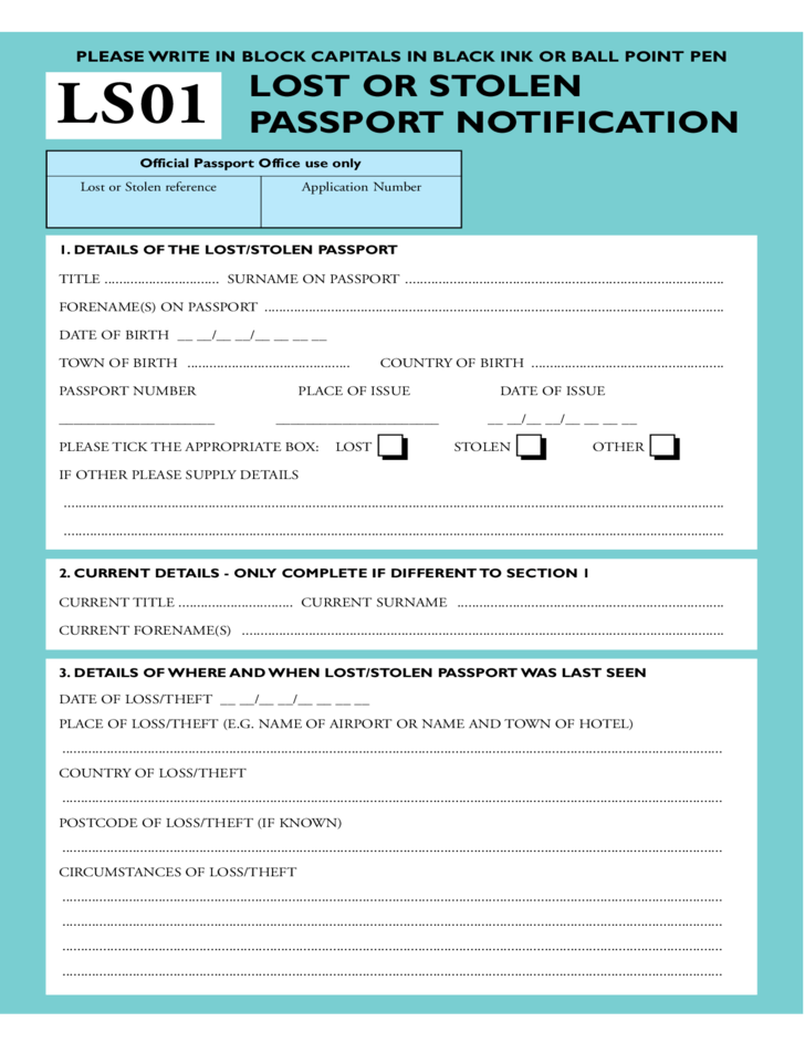 Chronological Resume Samples Writing Guide Rg Lost Or Stolen Passport Notification Official Passport