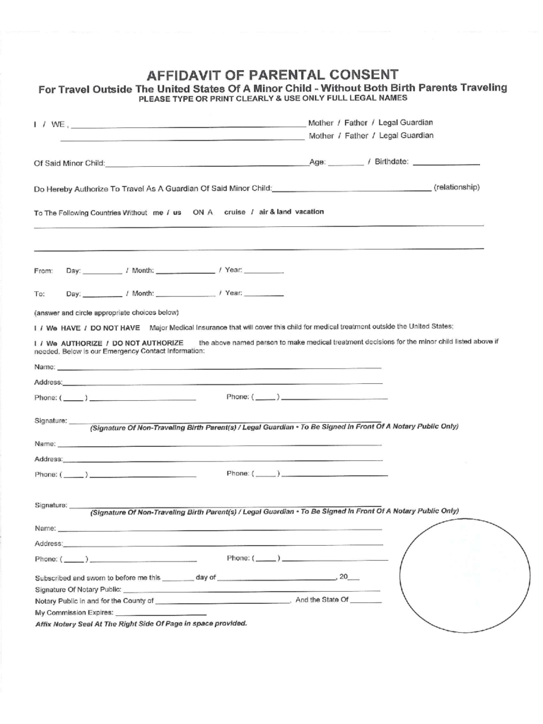 Parental Consent Form Template Zrom