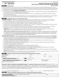 Form MV-215 - Refund Request of Motor Vehicle ...