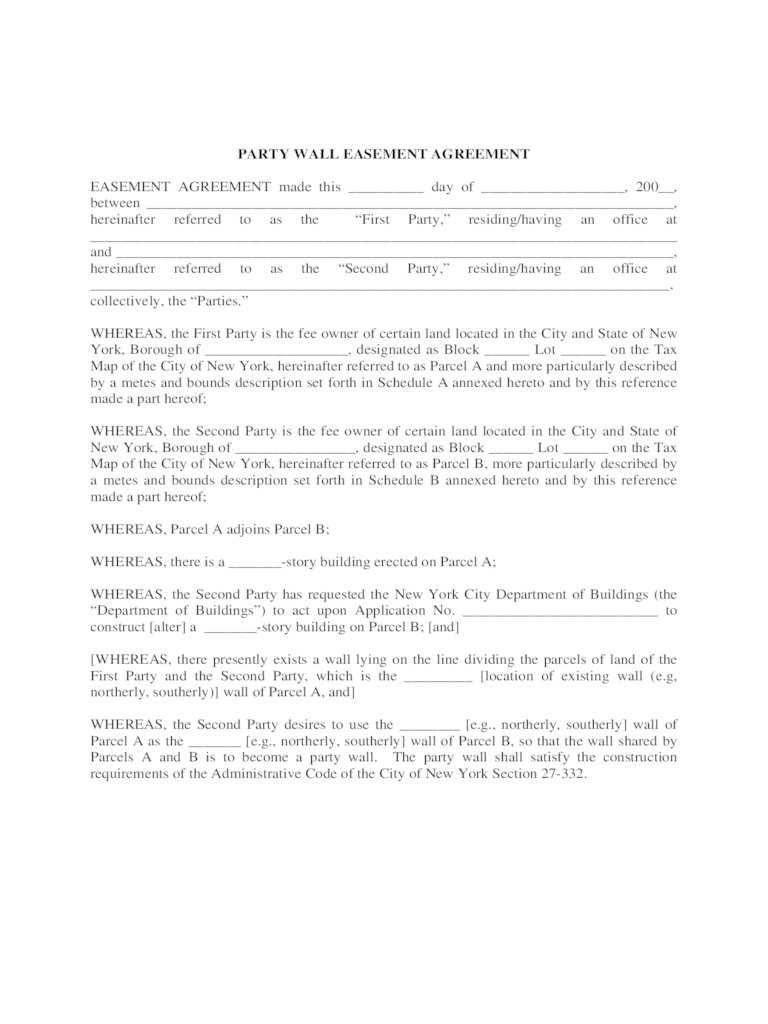 What Is A Construction Contract Agreement The Balance Party Wall Agreement Form 3 Free Templates In Pdf Word