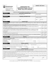Pennsylvania Motor Carrier Road Tax/IFTA - 46 Free ...