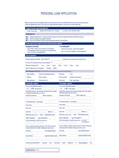 Loan Form - 36 Free Templates in PDF, Word, Excel Download
