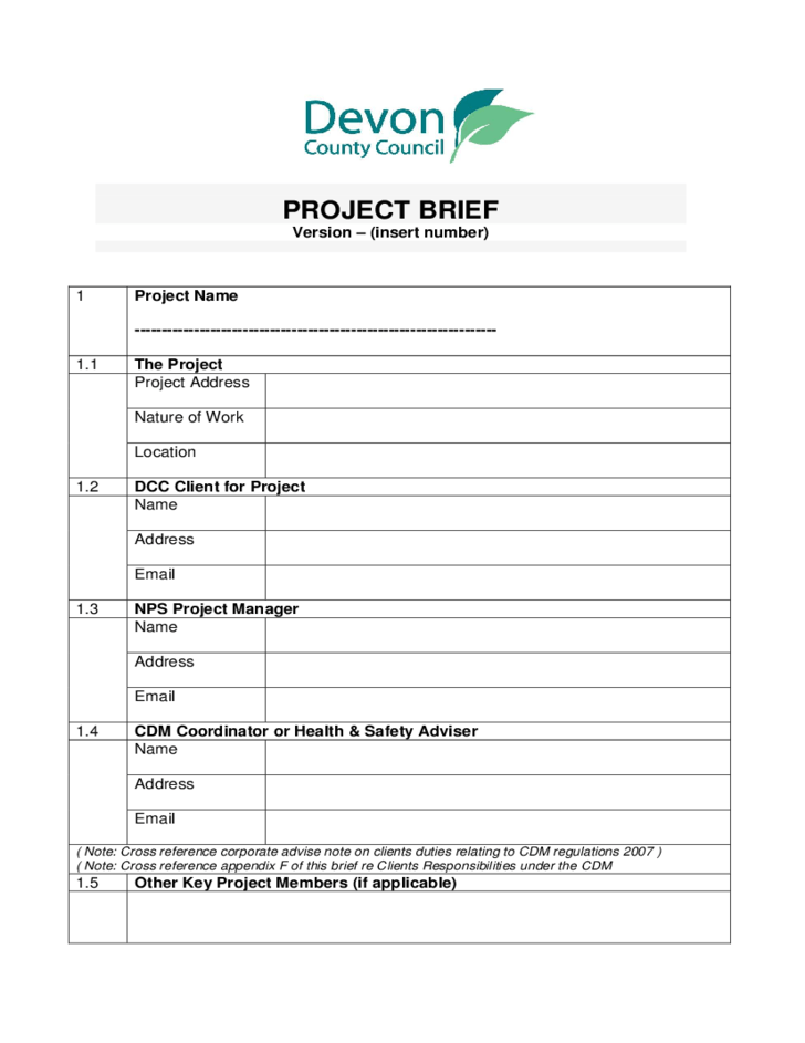Free General Resume Template Project Brief Sample Free Download