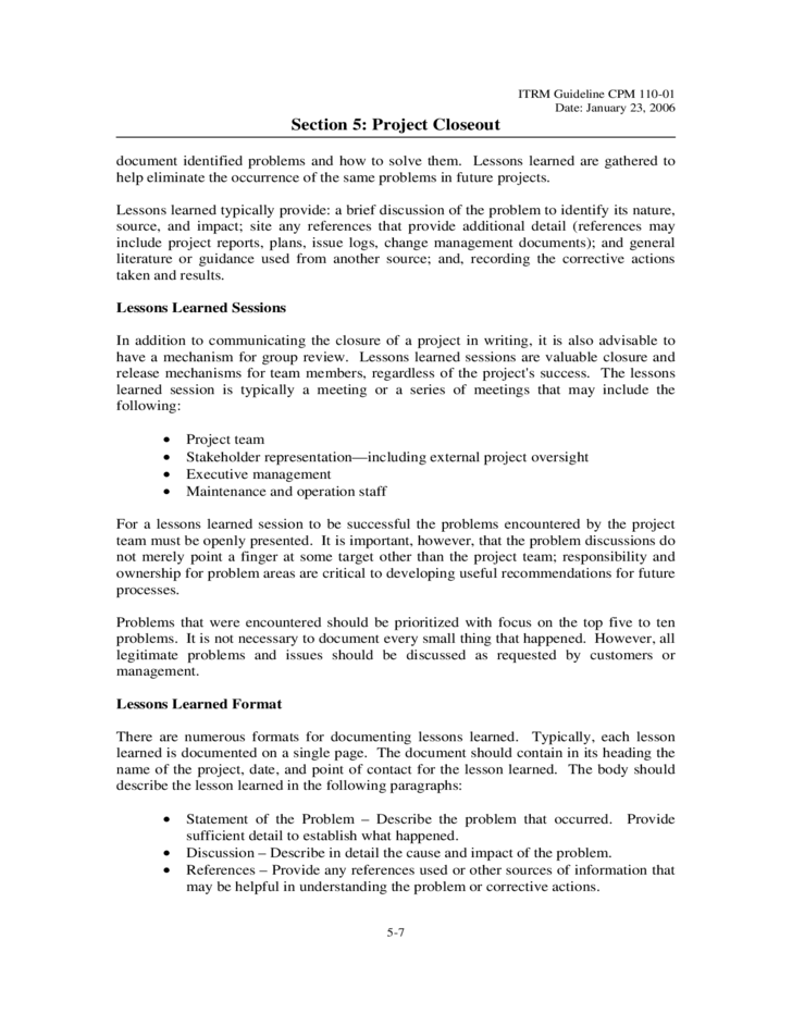Contract Closeout Letter – AREZ
