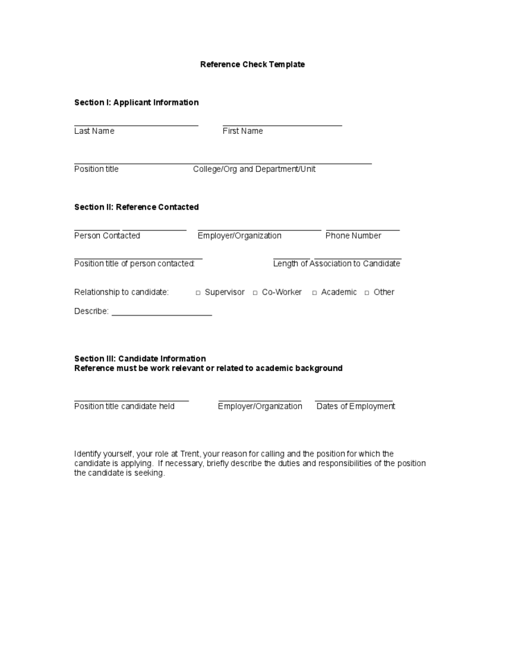 resume and reference page
