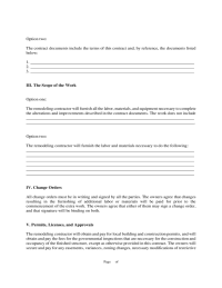 Remodeling Contract. bathroom remodel contract template ...