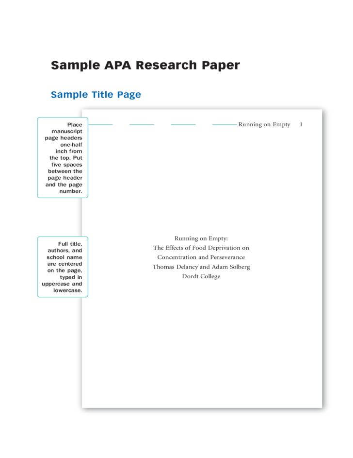 write title page research paper apa style Contents citing sources – general citing electronic sources apa style (american psychological association) mla style to write a research paper successfully.