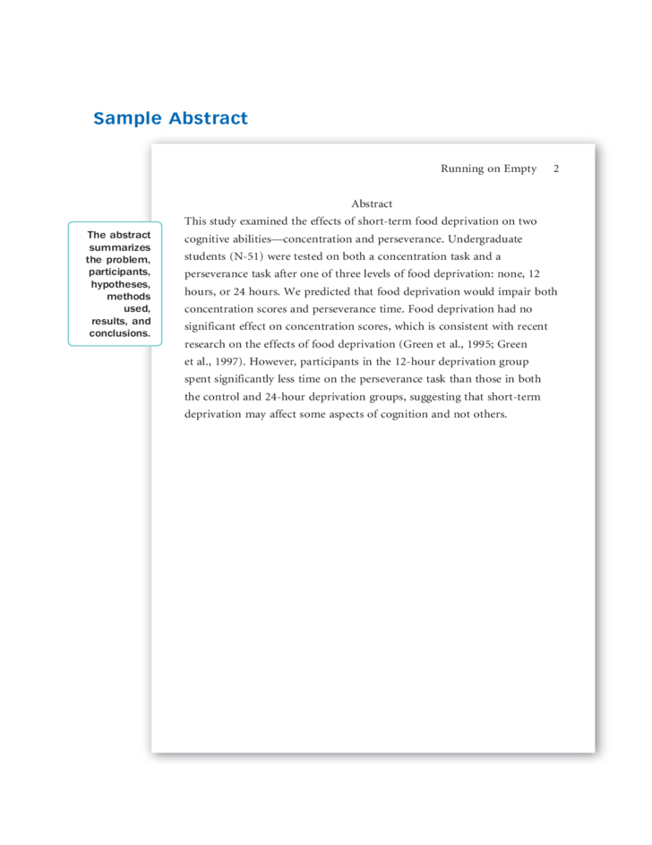 apa research paper outline example