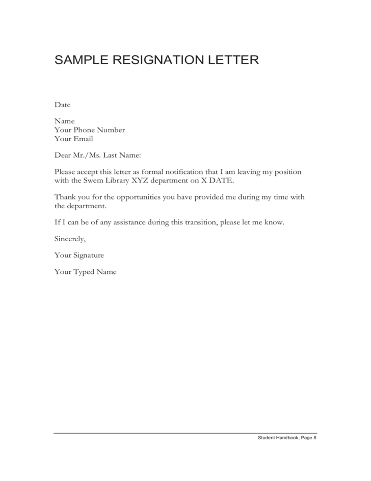 How To Write A Resignation Letter With Sample Wikihow Sample Resignation Letter Free Download