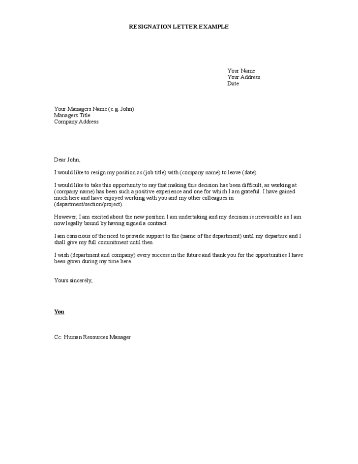 Resignation Letters Letter Of Resignation Templates Simple Resignation Letter Form Free Download