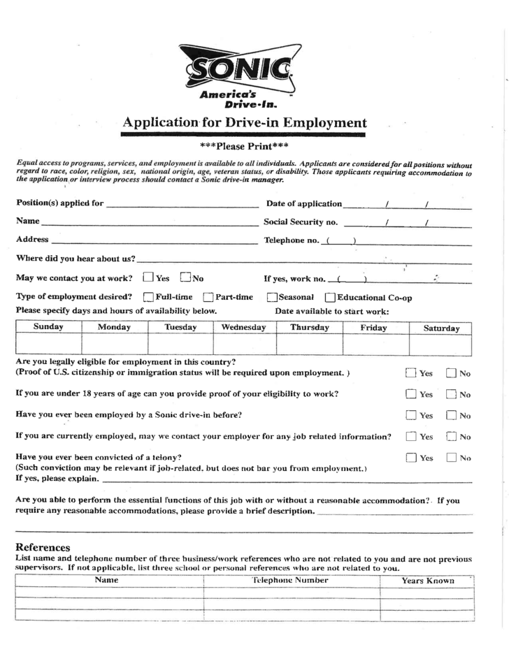 Log In Or Register Reliefweb Sonic Drive In Job Application Form Free Download