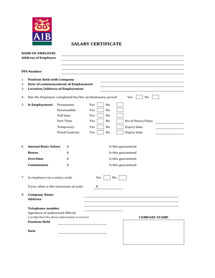 All Resume Format Free Download – Salary Certificate Format Download