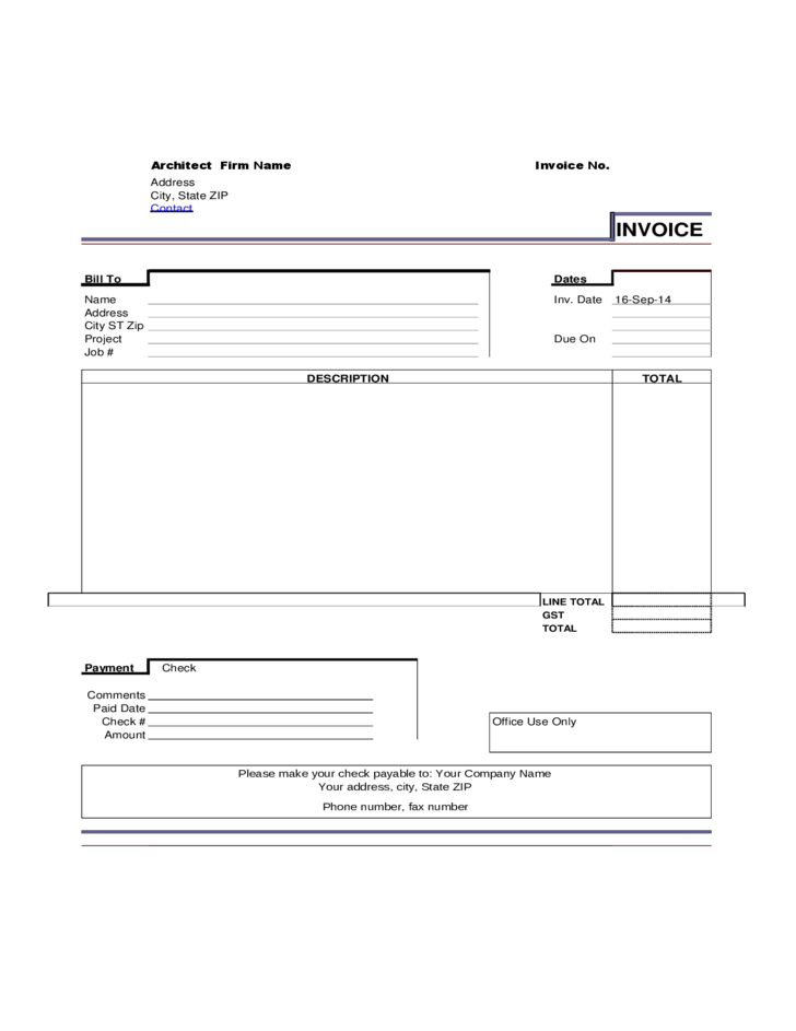 free invoice template no download – neverage, Simple invoice