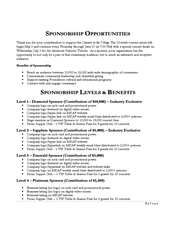 Cover Letter Sponsorship Proposal Sample – Sample of a Sponsorship Proposal