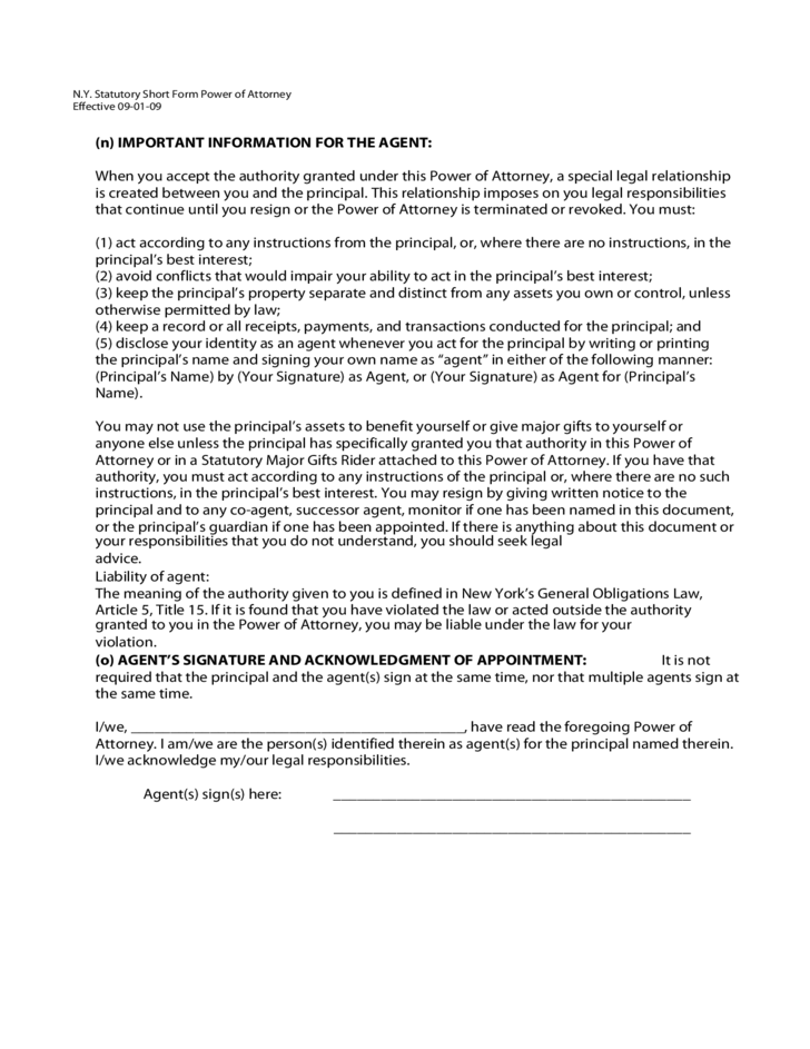 Power Of Attorney Form Ny Sample – Sample Against Medical Advice Form