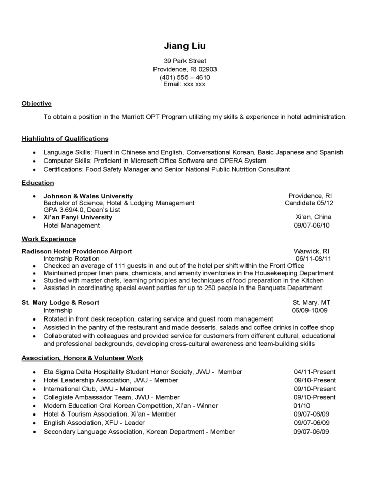 management experience resume examples