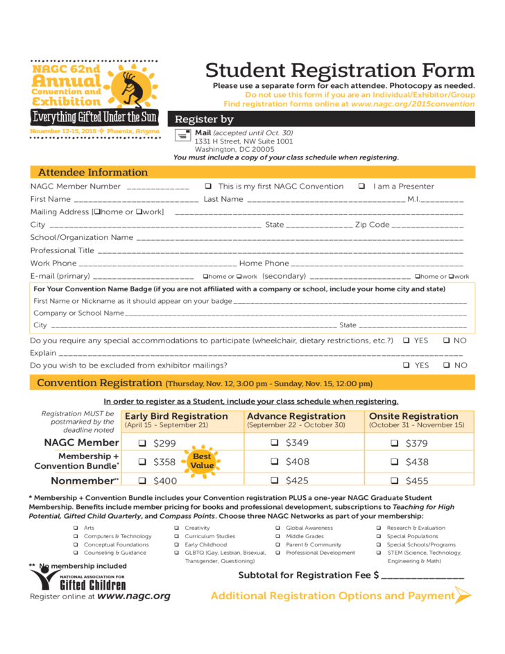 Student Registration Form Template Microsoft Word | resume builder