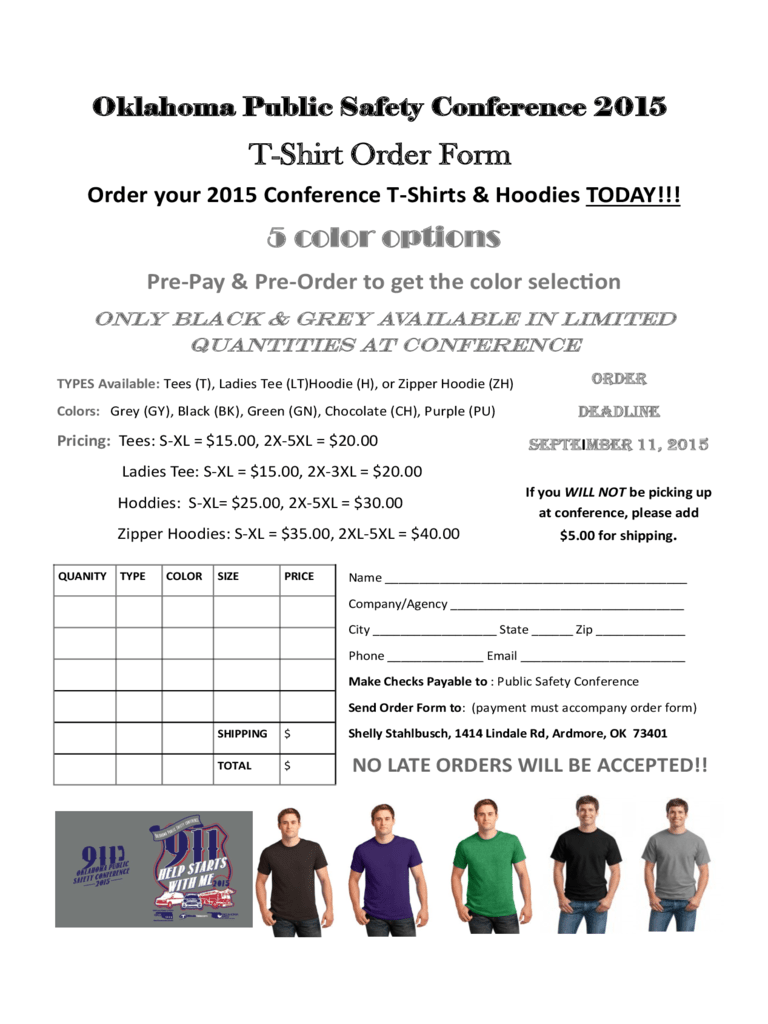 pre order form template free