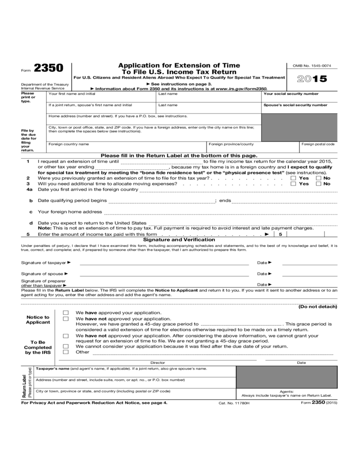 Irs Tax Extension Form Printable | Best Resumes Curiculum Vitae ...