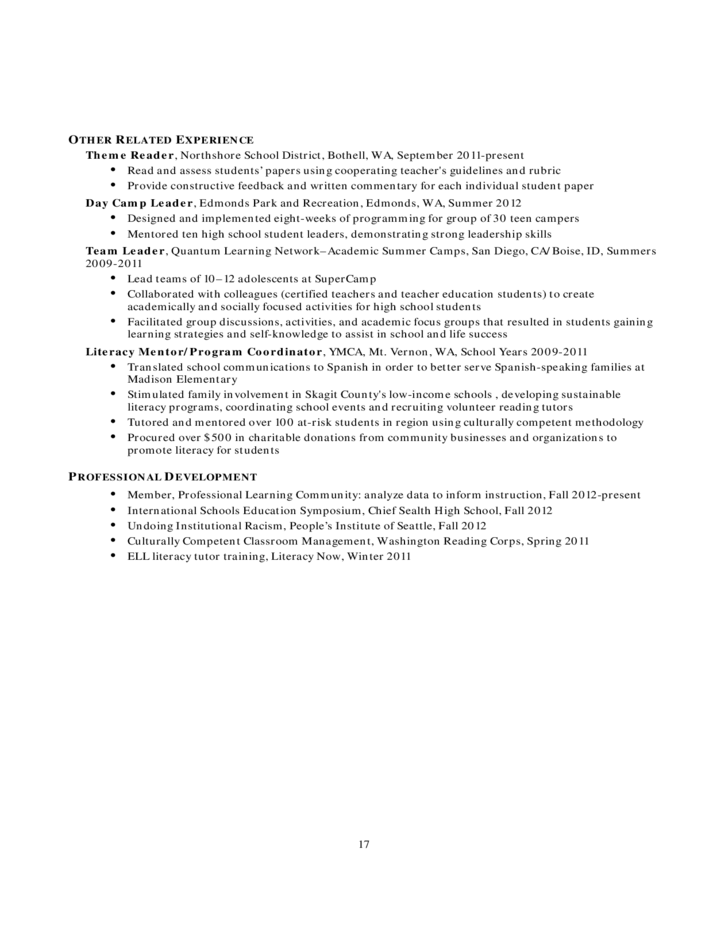 what accompanies a resume template