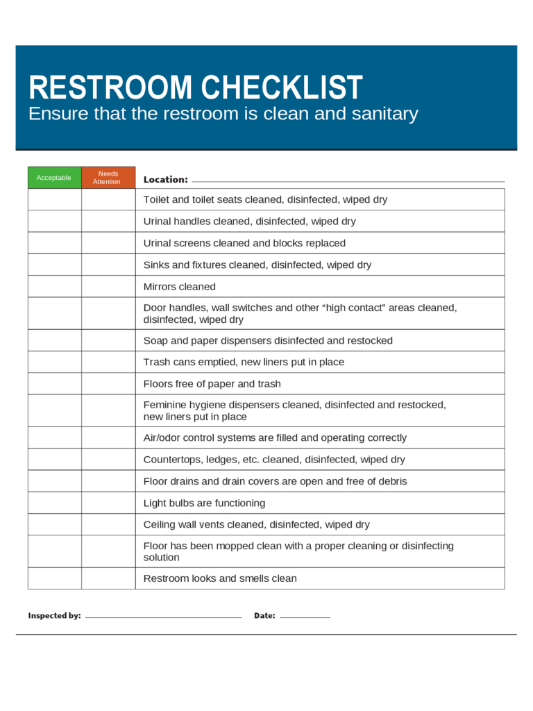 Commercial Bathroom Cleaning Checklist 28 Images Commercial Bathroom Cleaning Checklist