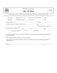 Form: NEW BILL OF SALE FORM WEST VIRGINIA