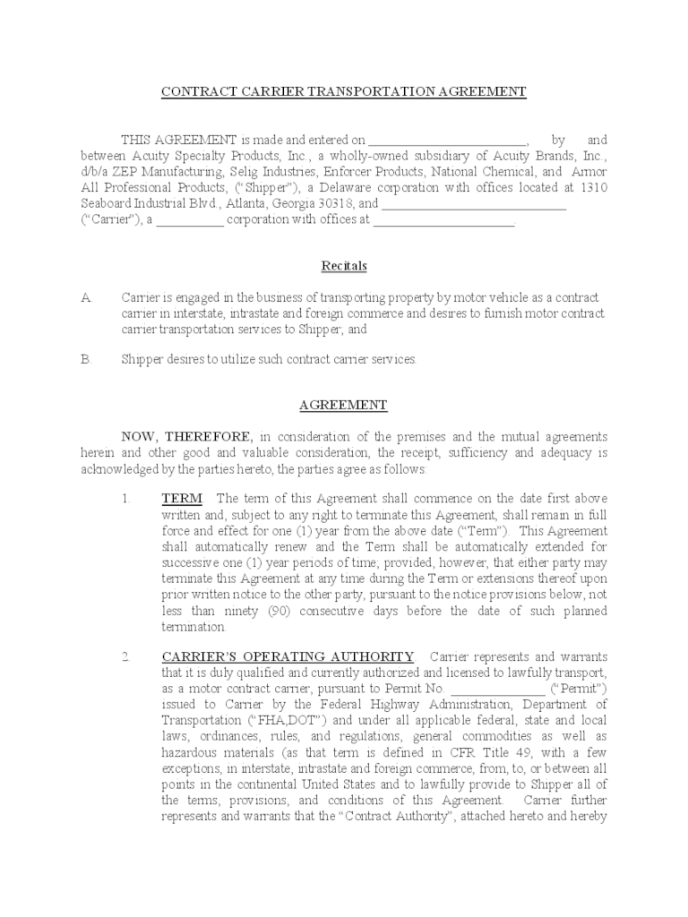 What Is Service Contract Definition And Meaning Transportation Contract Template 2 Free Templates In Pdf