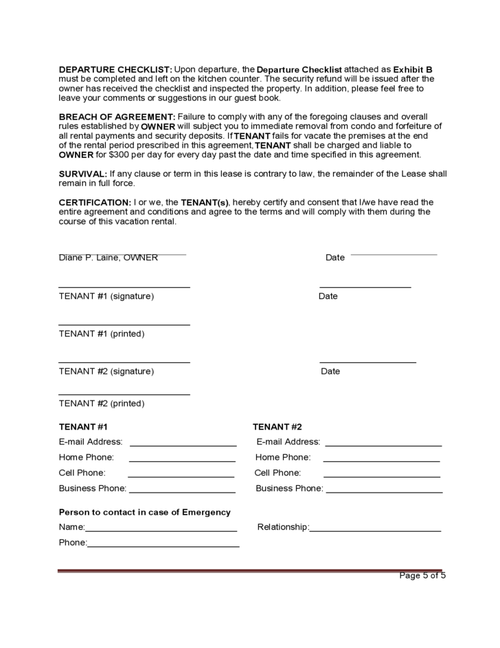 Sample Vacation Rental Agreement Template Resume Templates – Sample Vacation Rental Agreement
