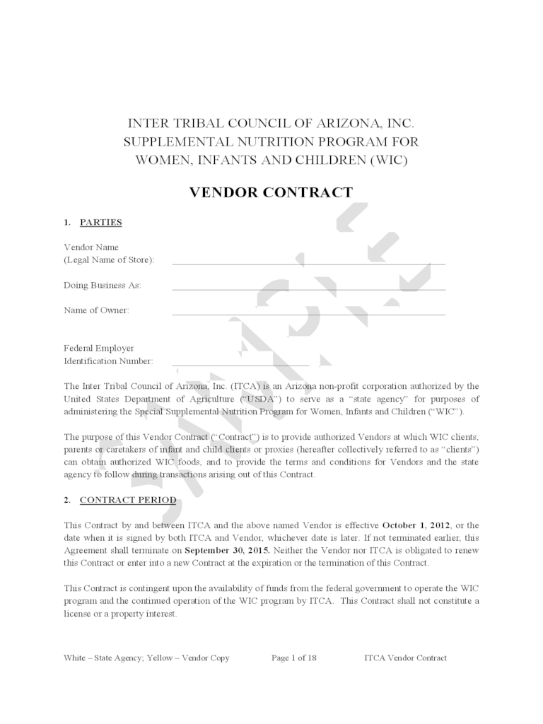 Simple Vendor Agreement Template Day Planner Template Word Vendor Contract  D1 Simple Vendor Agreement Template%