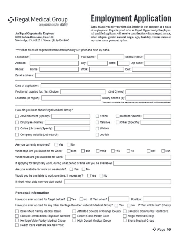 Standard State Application Form 678 State Of California Medical Vacancy Regal Medical Job Application Form