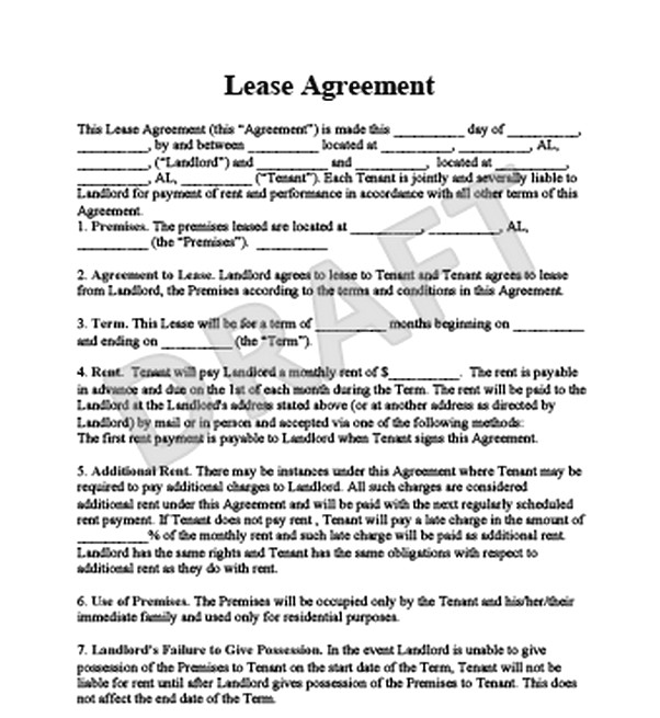 The Advantages You Get By Using a Sample Lease Agreement - Free Job