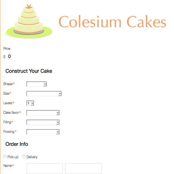 Bakery Order Forms Templates Bakery Forms Formstack