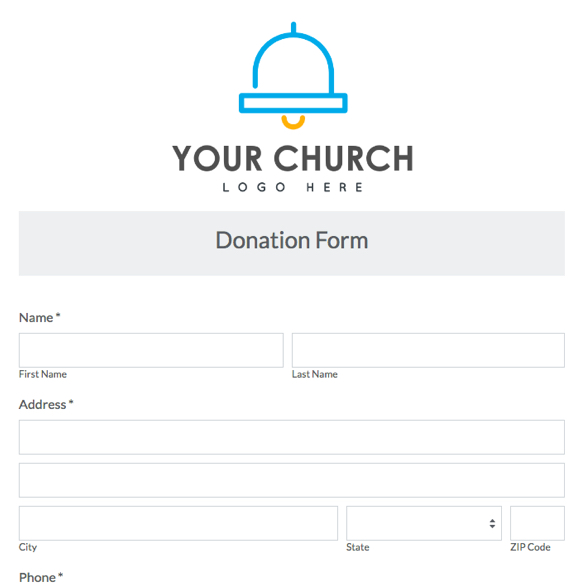 church donation form template - Funfpandroid - Donation Form Templates