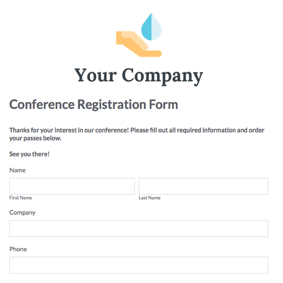Web Form Templates Customize  Use Now Formstack - enrolment form template
