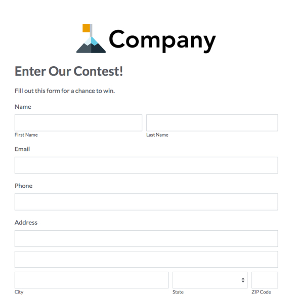 Web Form Templates Customize  Use Now Formstack - application forms template