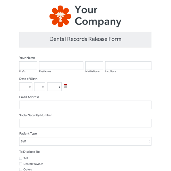 Web Form Templates Customize  Use Now Formstack - Patient File Template