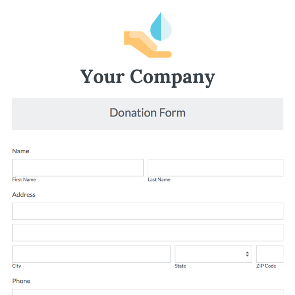 Nonprofit Forms Nonprofit Templates Formstack - Donation Form Templates