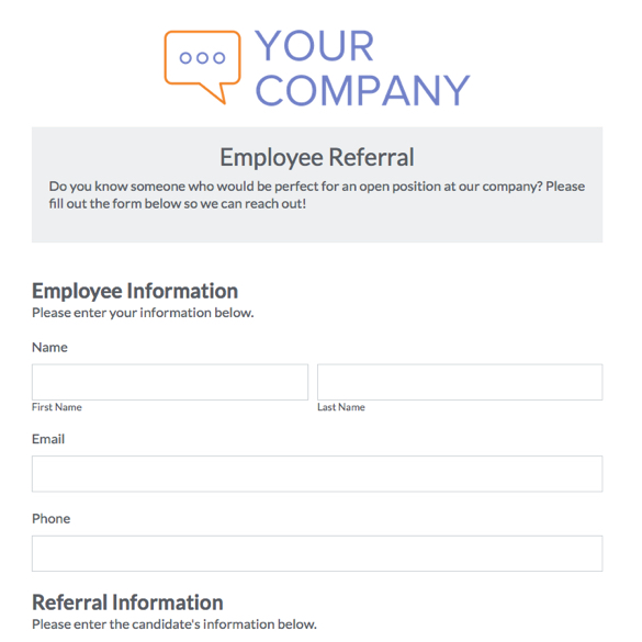 Web Form Templates Customize  Use Now Formstack - employee info form