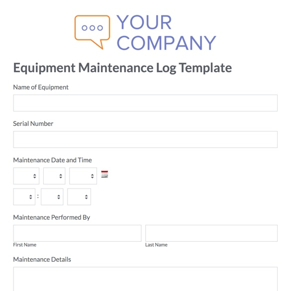 Web Form Templates Customize  Use Now Formstack - sample research log template