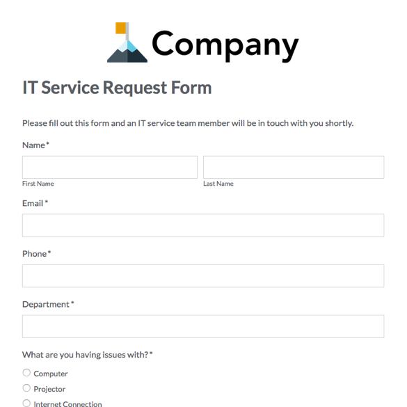 Web Form Templates Customize \ Use Now Formstack - superior service application form