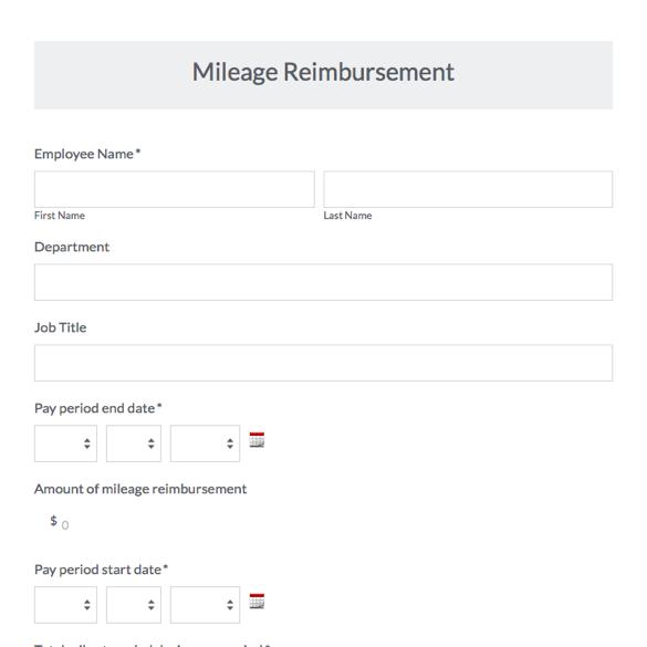 Travel Request Forms Travel Forms \ Templates Expense, Mileage - expense reimbursement form