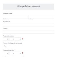 Mileage Reimbursement Form Template. mileage reimbursement ...