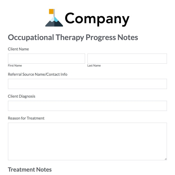 Therapy Form Templates Formstack