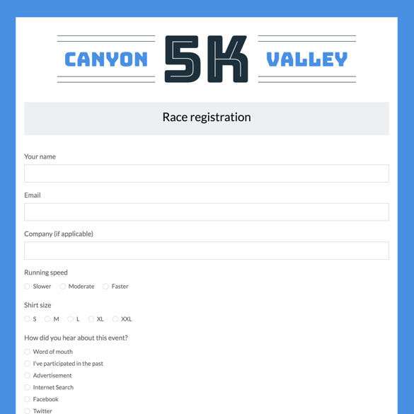 Event Forms  Fundraising Form Templates Formstack