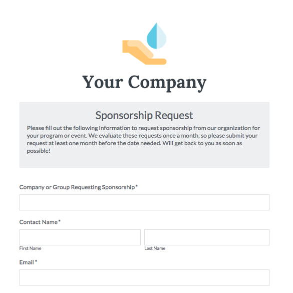 Event Forms  Fundraising Form Templates Formstack - charity sponsor form template