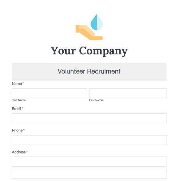 Event Forms  Fundraising Form Templates Formstack - Fundraising Forms Templates