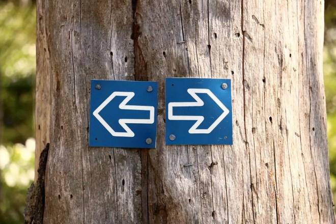 Gauche ou droite: quelle direction?